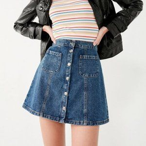 BDG Pocket Button-Snap Denim Skirt (M)